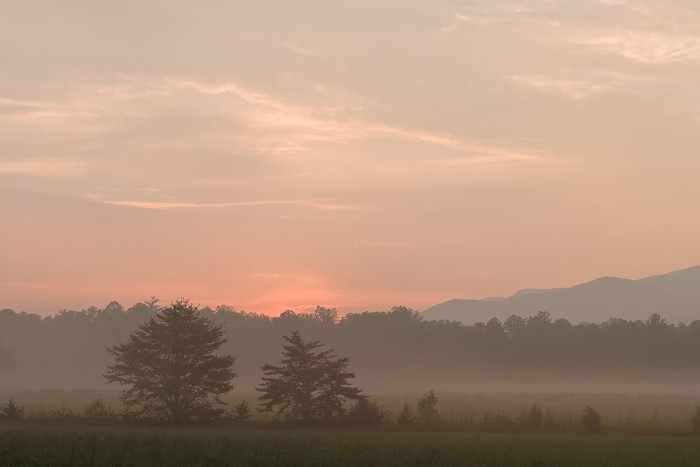 8) This misty morning makes us want to head out on an early morning drive ASAP