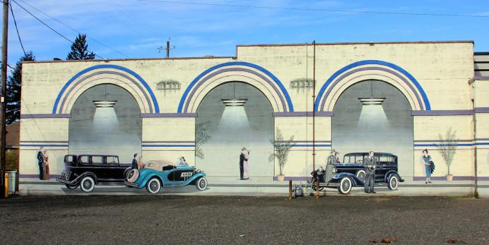 8) Mural, Junction City, Oregon on highway 99