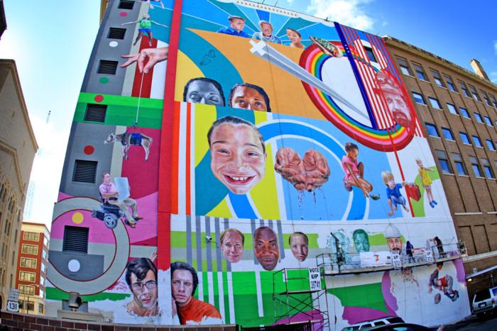 6) Mural at 2010 ArtPrize, Grand Rapids