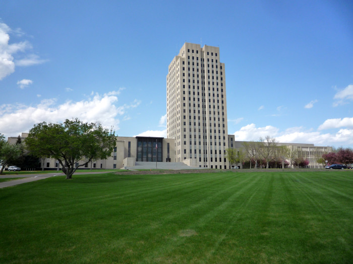 """8. North Dakota State Capitol Building in Bismarck, North Dakota. This capitol building is sometimes referred to as """"The Skyscraper Capitol on the Prairie."""""""