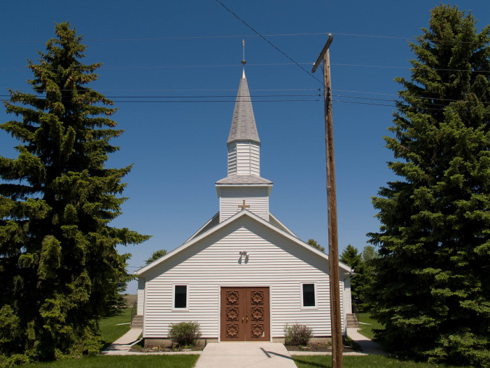 3. A picturesque church in Chaseley, North Dakota.