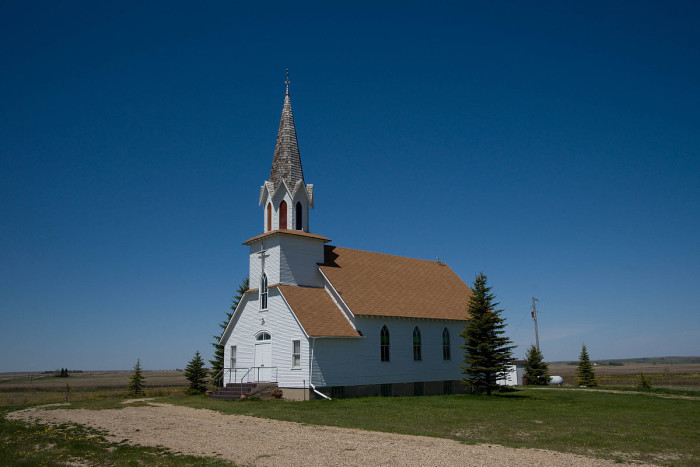 5. The First English Free Lutheran Church of Lostwood, North Dakota. This church was built between the years 1922-1923.