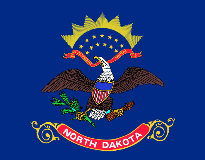 1. North Dakota is known as the Peace Garden State, the Flickertail State, and the Roughrider State.