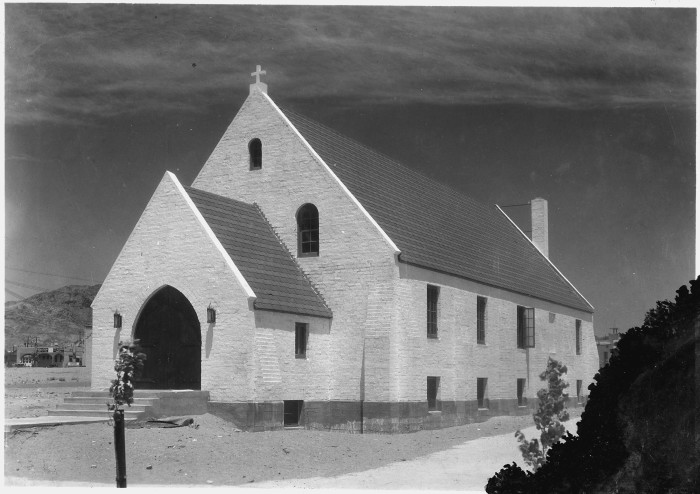 7. A charming community church in Boulder City, Nevada. Photo taken in 1933.