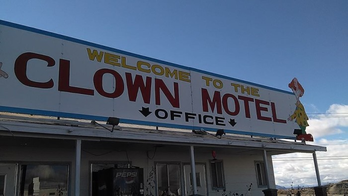 As you check into the Clown Motel, you'll experience several creepy clowns staring you in the face.