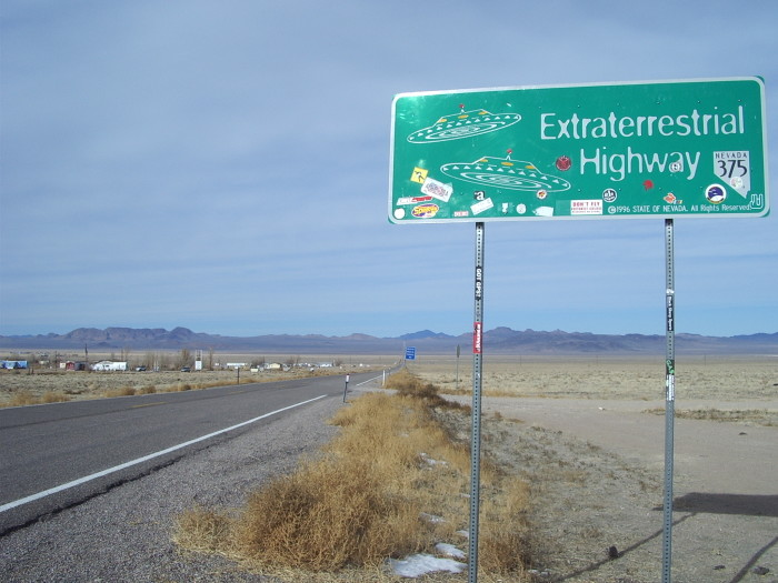 6. You've taken an afternoon drive along the Extraterrestrial Highway.