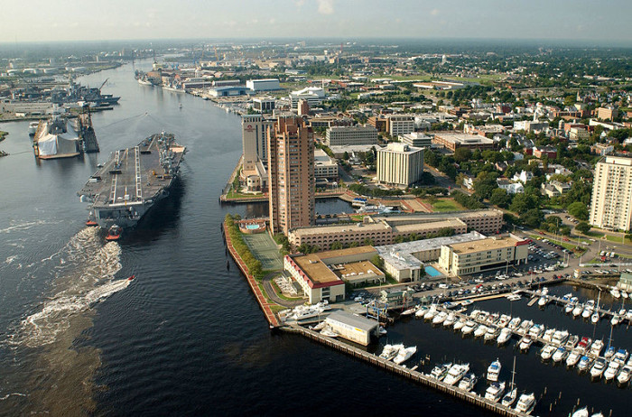 10. Navy Boats on the Elizabeth River near Norfolk