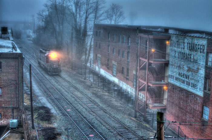 14. The Oncoming Train, Buckingham Branch locomotive, Charlottesville