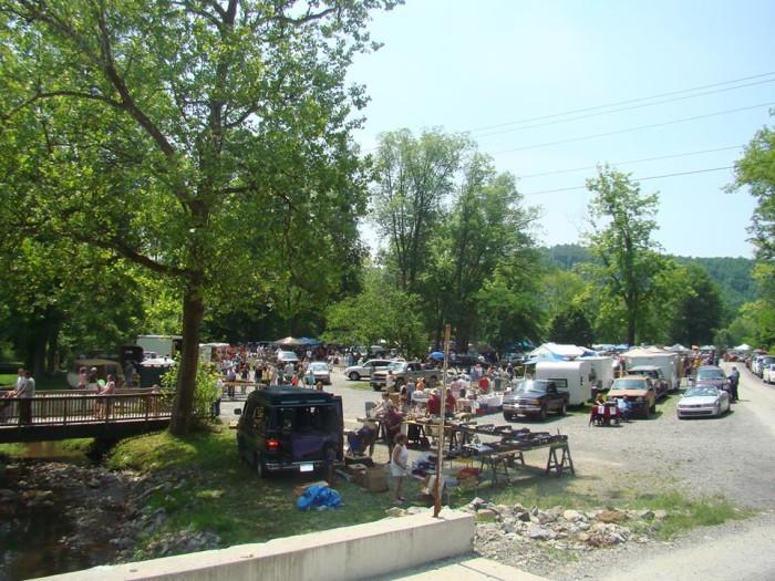 8. Pence Springs Flea Market