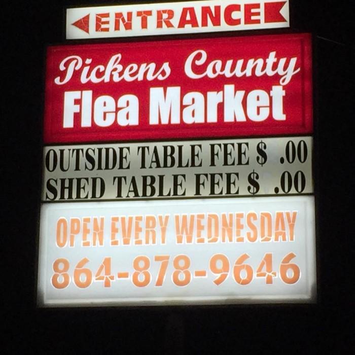 5. Pickens County Flea Market, Pickens, SC