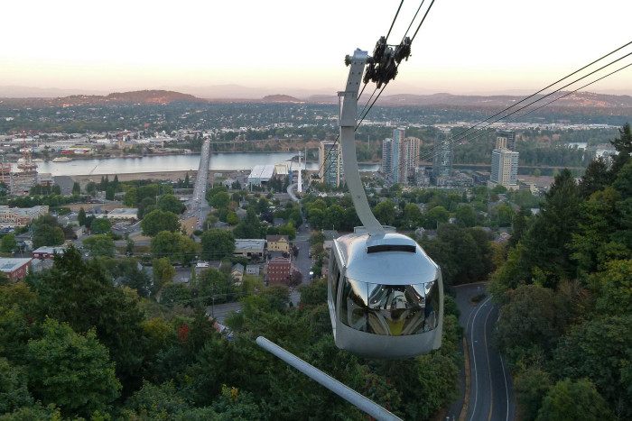 4) Portland Aerial Tram