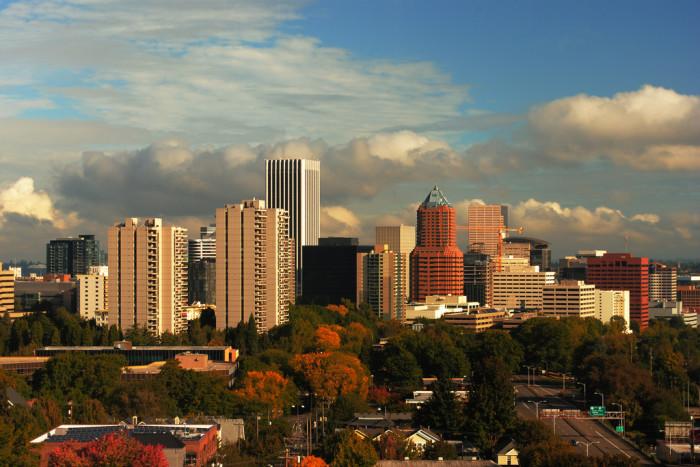 3) Portland skyline