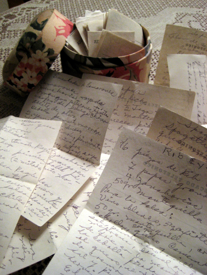12. You have a stack of handwritten recipes passed down for generations.