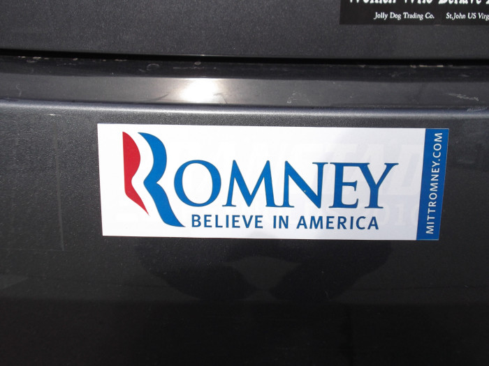 4) Some Utahns still have their Mitt Romney 2012 bumper stickers. They just can't let it go.