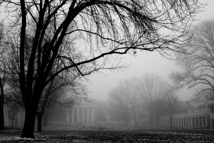 3. The Rotunda Through a Haze at University of Virginia in Charlottesville