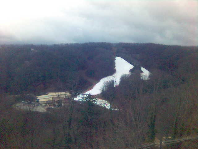 3)  Ober Gatlinburg Ski Resort has a 5-acre artificial ski surface, that is the world's largest.