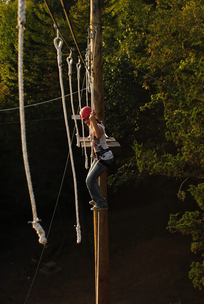 4. Sand Creek Adventures has all you need for a treetop adventure with ziplining, ropes and more for big teams or small families alike!