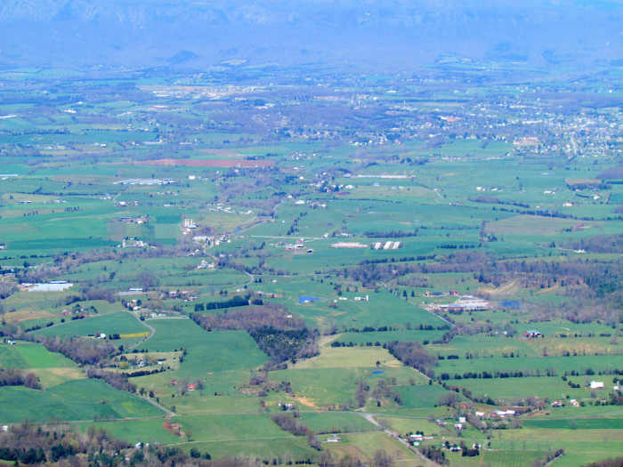 15. Farmland from Stony Man Mountain along the Skyline Drive