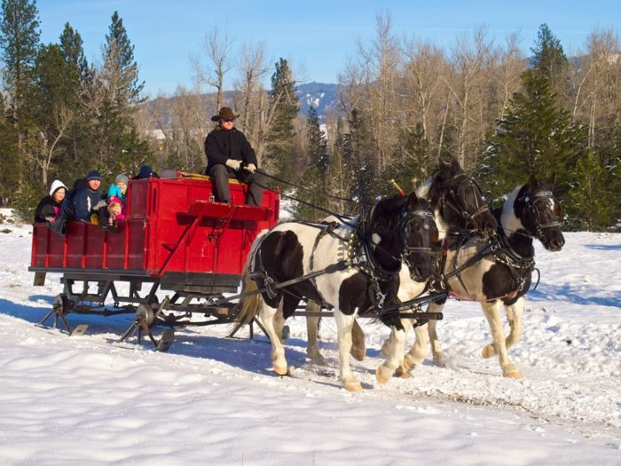 15. Take a horse-drawn sleigh ride in winter.