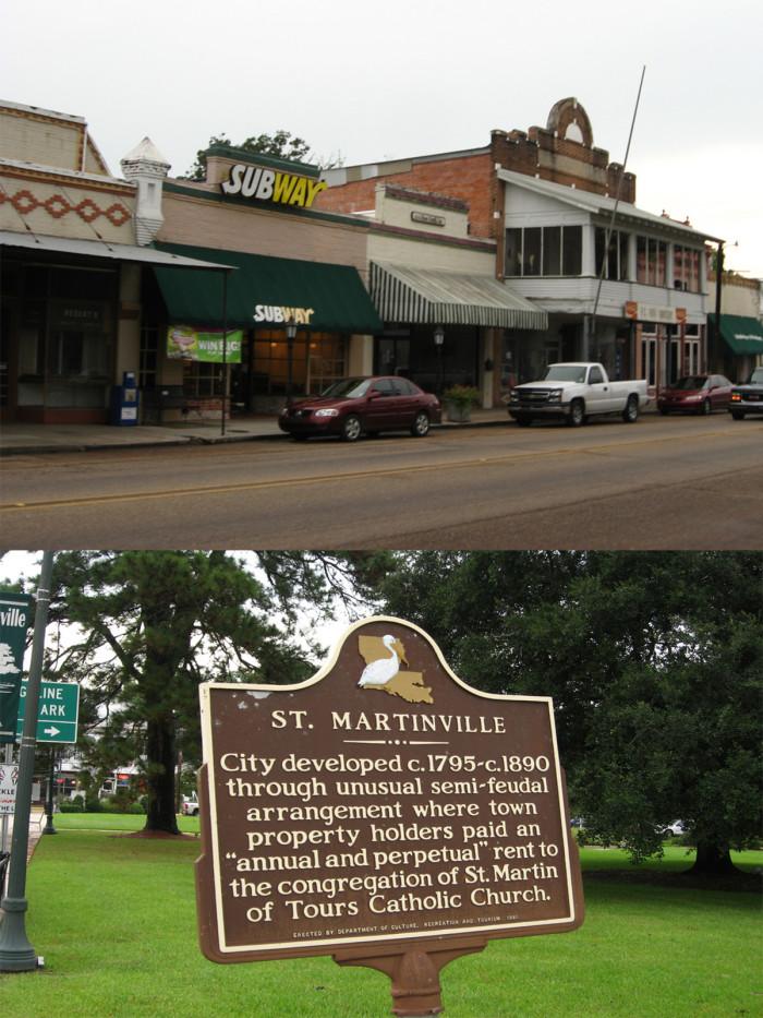 8) St. Martinville, LA