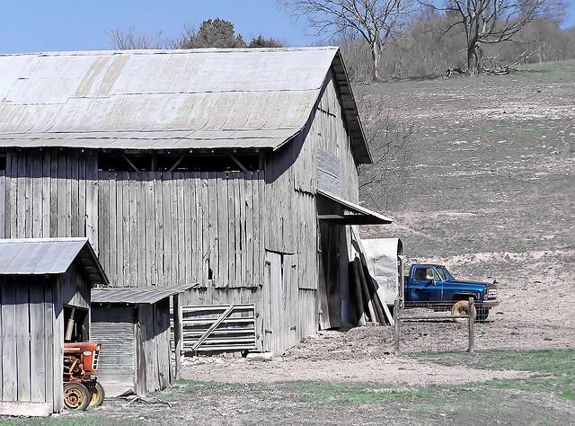 5) A good ol' working farm. Plus, check that truck!