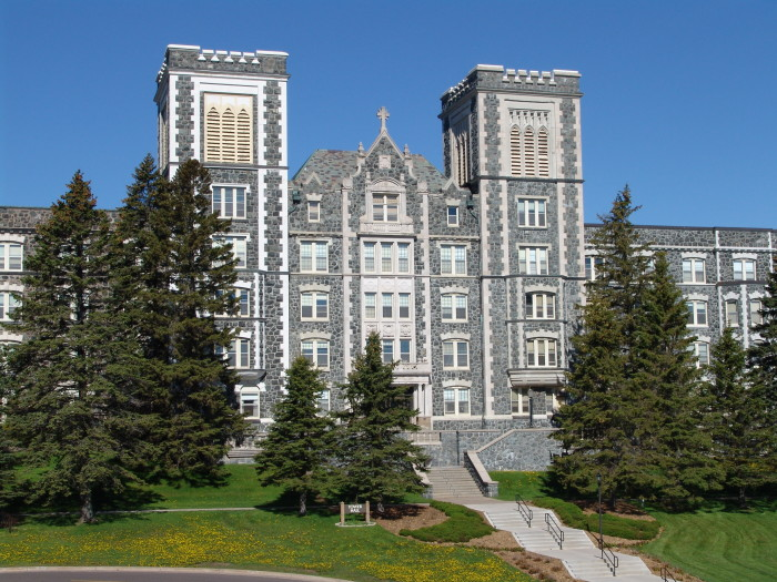 2. Tower Hall on the campus of The College of Saint Scholastica in Duluth is stunning day and night.