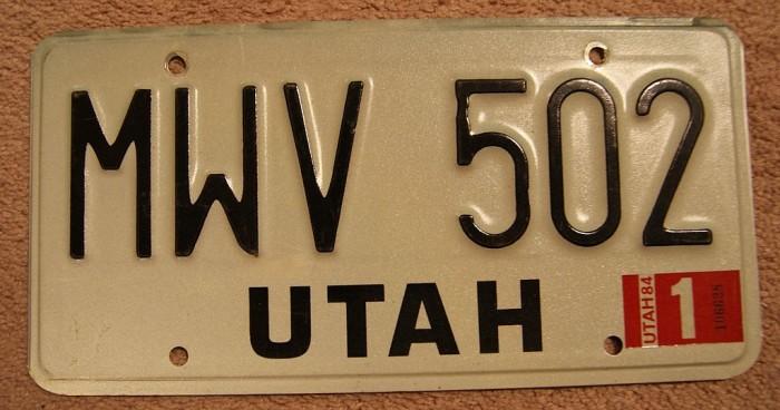 3) Black and White License Plates
