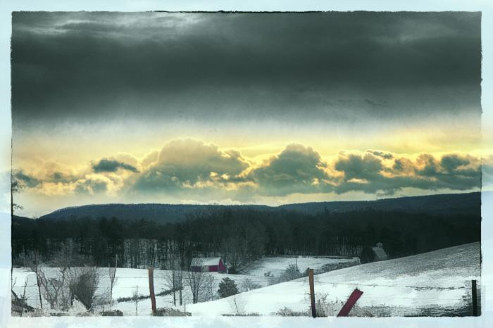 15. Virginia Farmland Snowscape