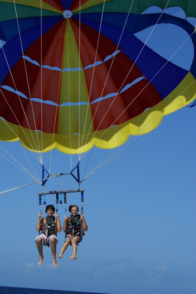 8. Go parasailing