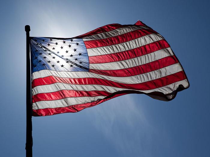 7. An American flag