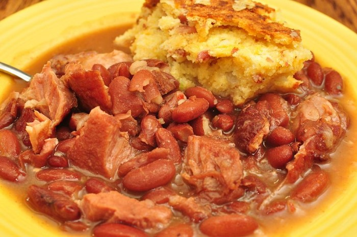 6. Beans and cornbread