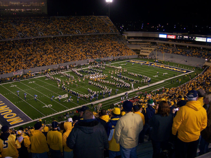 4. Cheered on the Mountaineers at a football game