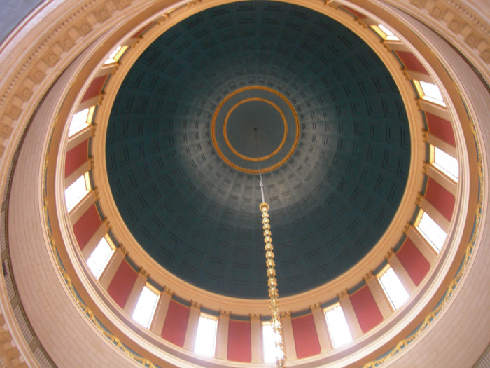 8. The inside of the state Capitol