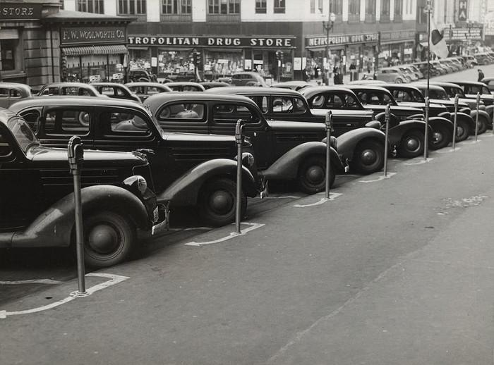 Cars Parked on an Omaha Street, 1938