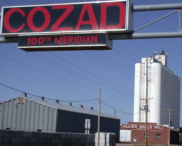 4. The Town of Cozad Sits Exactly at the 100th Meridian.