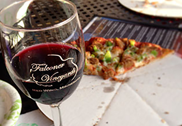 4. Falconer Vineyards in Red Wing. Amazing wine AND the best wood-fired pizza around.