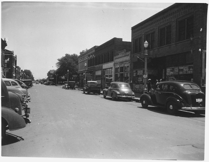 First Street in Hastings, Circa 1944