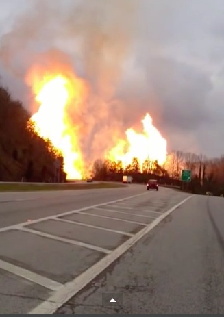 3. When a gas line exploded in Sissonville