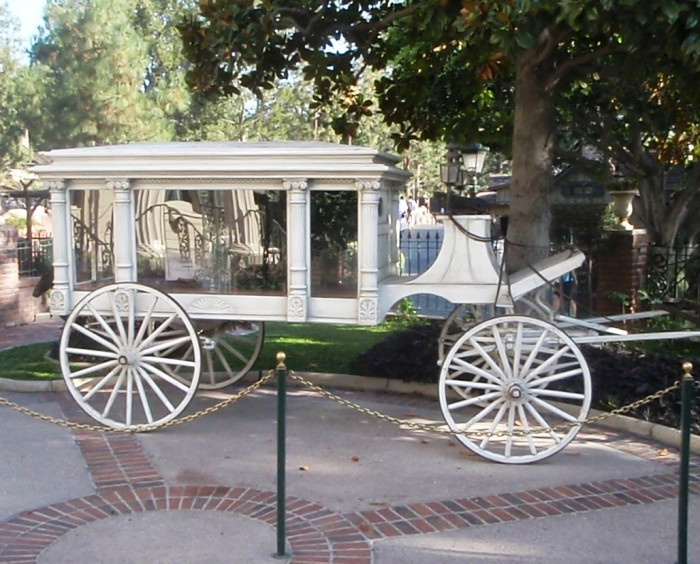 5) The Disneyland Hearse: The old, horse-drawn hearse that sits at the entrance to the Haunted Mansion at Disneyland was used to transport the body of Brigham Young to his funeral.