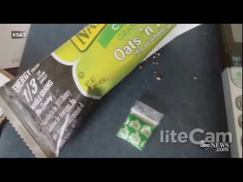 1) A woman finds cocaine inside a wrapped granola bar.