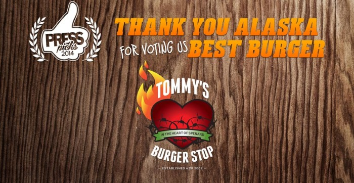 1) Tommy's Burger Stop