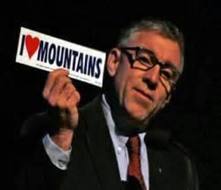 """4. An """"I love mountains"""" sticker."""