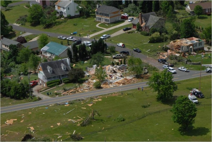 10. Destroyed homes