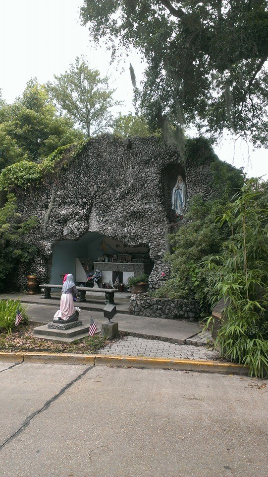 Head south on 90 and visit downtown New Iberia, LA to visit the Grotto of Our Lady of Lourdes.