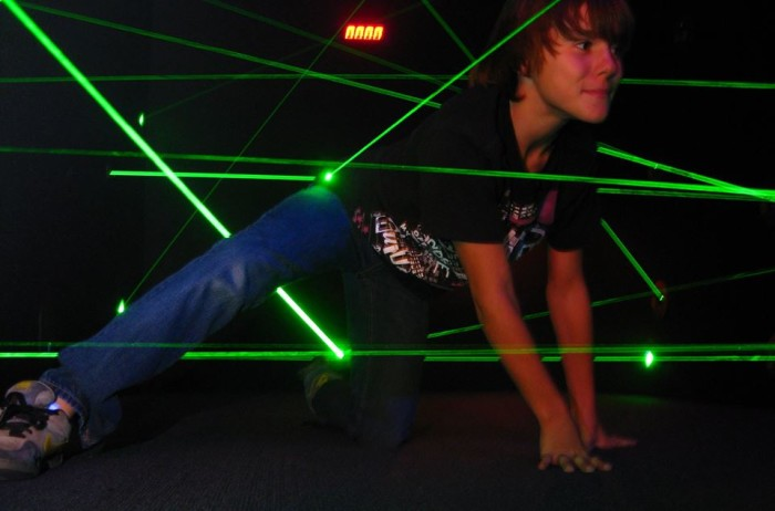 9. Think you could get through the Lazer Maze Challenge at Elevated Sportz in Bothell?