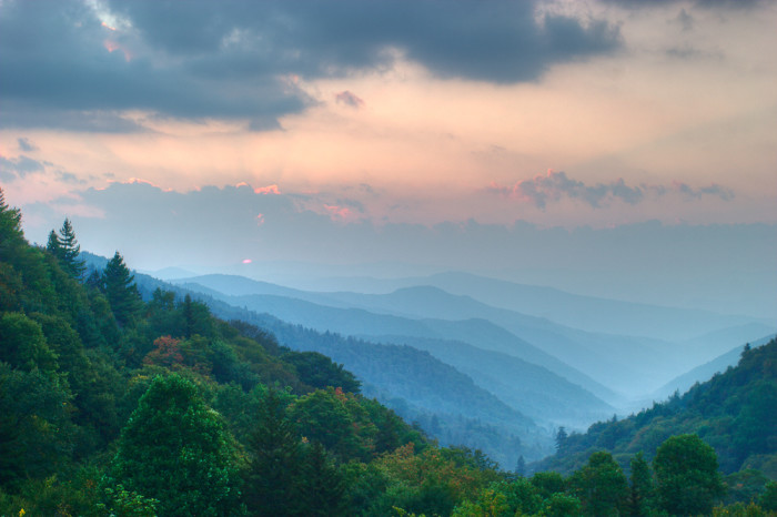 9) Early morning mountain layers