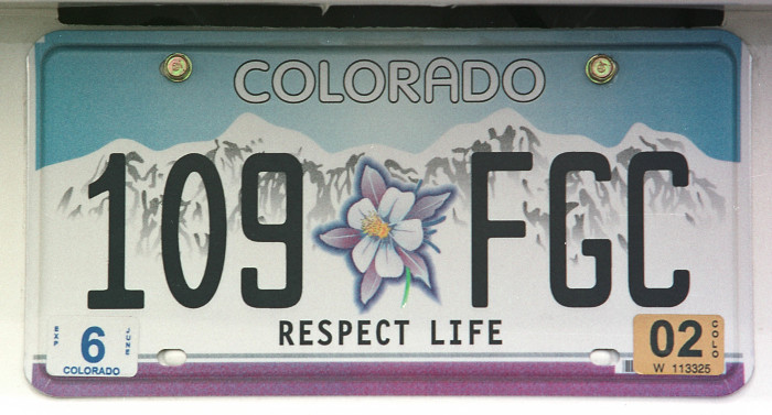 1.) In 1908, the first ever United States license plate was issued in Denver.