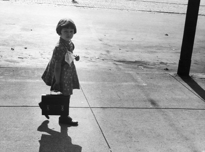 A Little Girl Carrying Her Father's Lunch Box in South Omaha, 1938