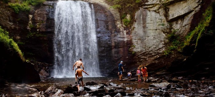 9. Feel the RIGHT kind of fear about water while taking in the breathtaking beauty of a waterfall