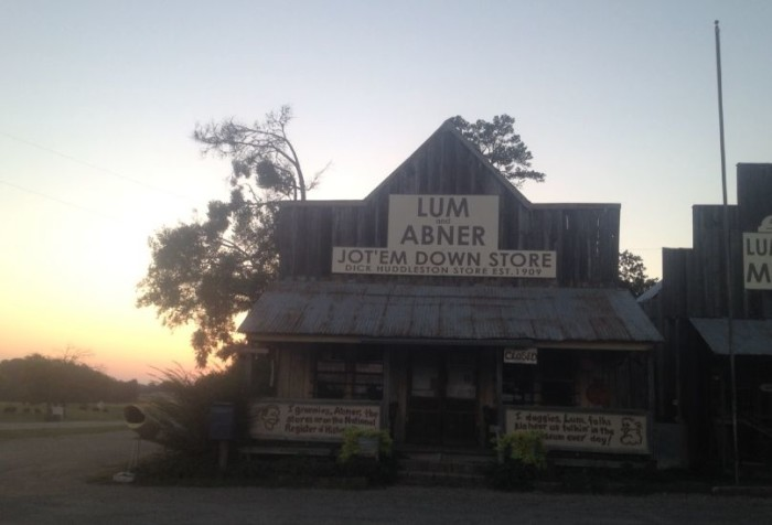 2. The Lum & Abner Jot 'Em Down Store and Museum